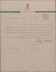 Carta de José Navarro a Guillermo Fernández-Shaw, felicitándole por su nombramiento como Director General de la Sociedad General de Autores de España.