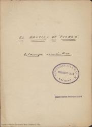 El bautizo de Fígaro : estampa romántica / Guillermo Fernández-Shaw y Federico Romero