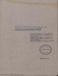 ¡Despierta corazón! : comedia musical en doce cuadros y dos entrecuadros, divididos en dos actos / libro de Guillermo y Rafael Fernández-Shaw sobre un guión de Jean Geiringer. Música de Federico Moreno Torroba.