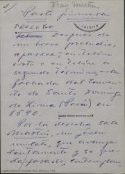 Fray Martín : ópera en dos partes / Guillermo Fernández-Shaw.