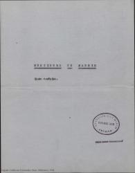 Mentidero de Madrid : glosa escénica / libro de Guillermo Fernández-Shaw y Eduardo M. del Portillo, con música de Francisco Asenjo Barbieri, adaptada por Manuel Parada.