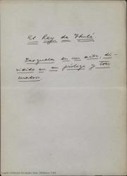 El rey de Thulé : zarzuela en un acto, dividido en un prólogo y tres cuadros / Guillermo Fernández-Shaw.