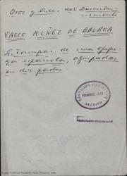 Vasco Nuñez de Balboa : estampas de una epopeya española, agrupadas en dos partes / original de Guillermo Fernández-Shaw.