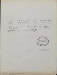 Ver ficha de la obra: El secreto de Rossini