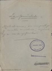 La puñalada : melodrama, en un prólogo y cuatro cuadros, original y en verso y en prosa / Carlos Fernández Shaw.