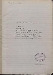Cuaderno 207 (1943-1945). Colaboraciones de Guillermo Fernández-Shaw con la Agencia Logos y en diversos periódicos y revistas.