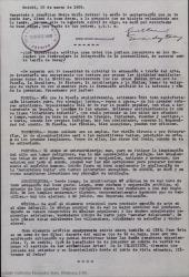 Carta de Guillermo Fernández-Shaw a la Madre María Javier contestando a una pregunta teórica de ésta relacionada con su tesis.