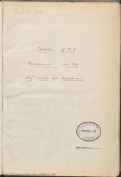 """Cuaderno 24 (Agosto de 1929-Enero de 1930). Estreno de la obra """"La rosa del azafrán"""". Críticas en prensa en Madrid y provincias y otra documentación."""