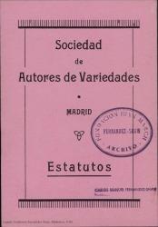 Sociedad de Autores de Variedades : estatutos.