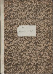 Cuaderno 37 (Enero-Mayo de 1945). Representaciones y estrenos de varias obras en España y Portugal. Críticas en prensa y otra documentación.
