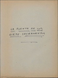 La fuente de los siete sacramentos. Auto sacramental / escrito por Juan de Timoneda. Adaptado por Guillermo Fernández-Shaw.
