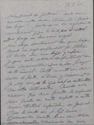 Carta de Ernesto Lecuona a Guillermo Fernández-Shaw, haciendo comentarios sobre la situación del teatro, sus proyectos y otros temas personales.