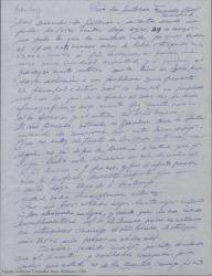 Carta de Ernesto Lecuona a Guillermo Fernández-Shaw, explicándole que no puede delegar en él su voto para una reunión de la Sociedad General de Autores de España por haberlo hecho ya en José María Gil Serrano.