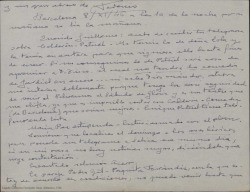 Carta de Federico Romero a Guillermo Fernández-Shaw tratando diversos temas teatrales relacionados con intérpretes, empresarios y teatros para sus obras.