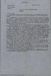 """Carta de Germán de Falla a Casto Fernández-Shaw, hablando de un concurso para la realización de un monumento a Manuel de Falla en Argentina, del dinero que les corresponde por las representaciones de """"La vida breve"""" en Copenhague y preguntado por toda la familia."""