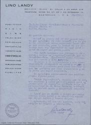 Cartas de Lino Landy a Guillermo Fernández-Shaw