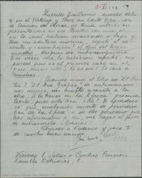 """Cartas de Jose Luis Lloret a Guillermo Fernández-Shaw haciendo comentarios y enviando monstruos y números pertenecientes a """"El festín de Baltasar"""", obra en la que colaboran."""