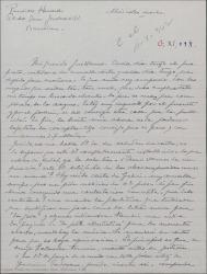 """Carta de Pierre de Vignier a Guillermo Fernández-Shaw, diciendo que ha tenido noticias de Alfred Gehri pidiendo información sobre """"Sexto piso""""."""