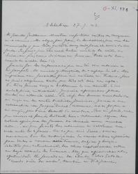 Carta de Pierre de Vignier a Guillermo Fernández-Shaw, alegrándose de que Gehri haya recibido sus fondos y diciéndole que se va a Francia y quiere llevarse la autorización de varias obras españolas para adaptarlas al francés, rogándole que solicite las ofertas.
