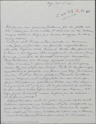 Carta de Pierre de Vignier a Guillermo Fernández-Shaw, hablando de asuntos teatrales y adjuntando una carta de Alfred Gehri.