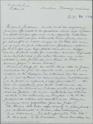 """Carta de Pierre de Vignier a Guillermo Fernández-Shaw, diciéndole que Alfred Gehri pide insistentemente noticias de la traducción de """"VI Étage"""", preguntándole como van las gestiones para el estreno y hablando de Henri Chandebois."""