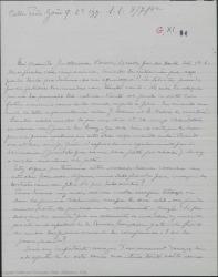 Carta de Pierre de Vignier a Guillermo Fernández-Shaw, felicitándole por las gestiones terminadas con éxito, alegrándose por Alfred Gehri y esperando colaborar con él en próximas traducciones.