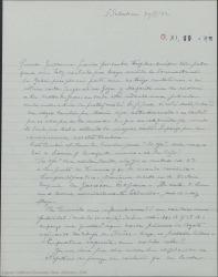 Carta de Pierre de Vignier a Guillermo Fernández-Shaw, contento de que haya recibido la documentación de Alfred Gehri. Hablando de otros asuntos teatrales.