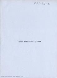 Entre dedicatoria y lema : como prólogo / Carlos Fernández Shaw.