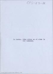 Lo hecho : cómo vibra en el alma la voz inmensa / Carlos Fernández Shaw.