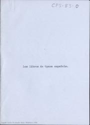Los libros de ópera española / Carlos Fernández Shaw.