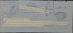 Telegrama de Geza Pollatschik a Guillermo Fernández-Shaw, disculpándose por no haber podido hablar con él esa noche y anunciando el envío de una carta detallada.
