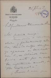 """Carta de Félix de Llanos y Torriglia a Guillermo Fernández-Shaw, agradeciéndole el suelto que sobre él ha publicado en la revista """"Vida Aristocrática""""."""
