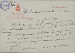 Carta de José Antonio Ubierna, remitiendo a Guillermo Fernández-Shaw una nota necrológica.