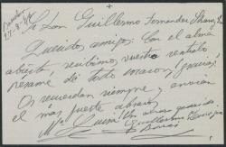 Carta de Enrique Borrás y esposa, agradeciendo su pésame a Guillermo Fernández-Shaw y señora.