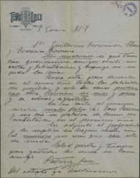 Carta de Patricio León a Guillermo Fernández-Shaw y Federico Romero, agradeciéndoles su felicitación y felicitando el Año Nuevo.