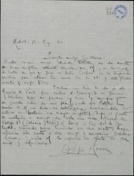 Carta de Pepe Romeu a Guillermo Fernández-Shaw, invitándole a comer para tratar de asuntos teatrales.