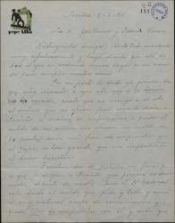 Carta de Pepe Alba a Guillermo Fernández-Shaw y Federico Romero, pidiendo un aumento de sueldo para aceptar el contrato que le ofrecen.
