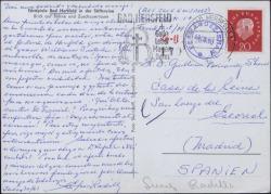 Tarjeta postal de Suárez Radillo a Guillermo Fernández-Shaw, hablando de diversos temas.
