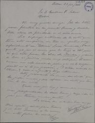 Carta de Valeriano Ruiz París a Guillermo Fernández-Shaw hablando de los éxitos que está consiguiendo con varias obras suyas y felicitando la Navidad.