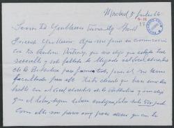 Carta de Julián Moret a Guillermo Fernández-Shaw, sobre el precio de un libro.