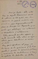 Cartas de Luis de Larra a Carlos Fernández Shaw.