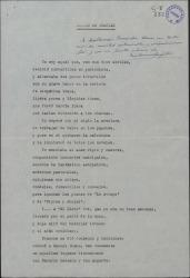 Poesía de carácter autobiográfico de Francisco Serrano Anguita con dedicatoria manuscrita a Guillermo Fernández-Shaw.
