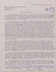 Carta de Javier Regás a Guillermo Fernández-Shaw, encargándole una gestión con el traductor de una obra francesa.