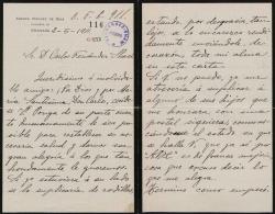 Cartas de Andrés Vázquez de Sola a Carlos Fernández Shaw y Cecilia Iturralde, su esposa.
