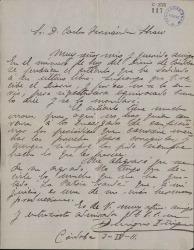 Cartas de Benigno Iñiguez a Carlos Fernández Shaw.