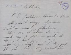 Carta de Jacinto Benavente a Guillermo Fernández-Shaw, agradeciéndole su recuerdo y deseándole éxito en su próximo estreno.