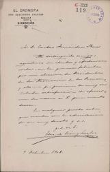 Cartas de Eduardo León y Serralvo a Carlos Fernández Shaw.
