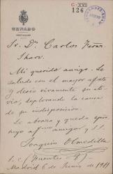 Cartas de Joaquín Olmedilla a Carlos Fernández Shaw.