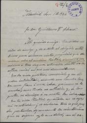 Carta de Víctor Redondo del Castillo a Guillermo Fernández-Shaw, comentando largamente ciertos incidentes relativos a los artistas líricos.