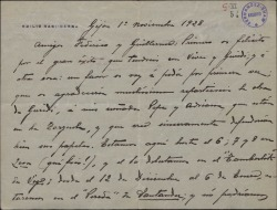Carta de Emilio Sagi-Barba a Guillermo Fernández-Shaw y Federico Romero, pidiéndoles que incluyan a sus cuñados en el reparto de una obra.